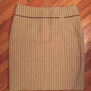 Banana Republic Wool Lined Pencil Skirt Size 8